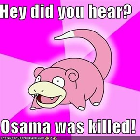 Hey did you hear?  Osama was killed!
