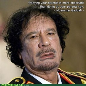Qaddafi Quotes: Parents