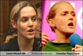 Louise Mensch MP Totally Looks Like Comedian Pippa Evans