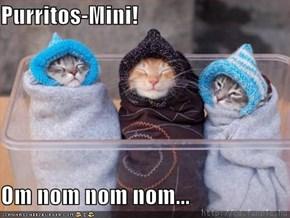 Purritos-Mini!  Om nom nom nom...