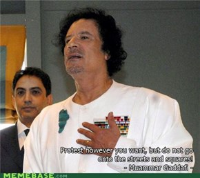 Qaddafi Quotes: Protest