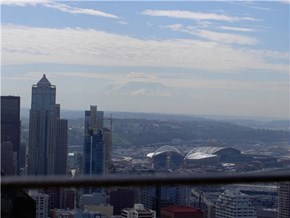 Mount Rainier as seen from the Space Needle