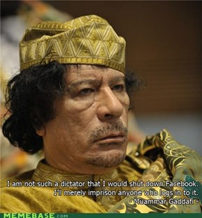 Qaddafi Quotes: Facebook