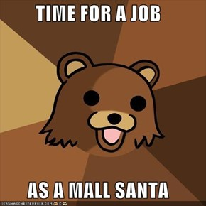 TIME FOR A JOB  AS A MALL SANTA