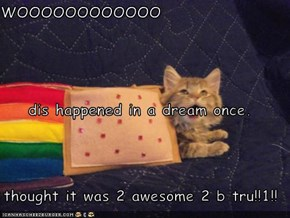 WOOOOOOOOOOOO dis happened in a dream once. thought it was 2 awesome 2 b tru!!1!!