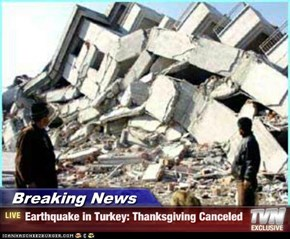 Breaking News - Earthquake in Turkey: Thanksgiving Canceled