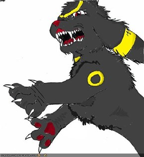 awesome umbreon made with lineart