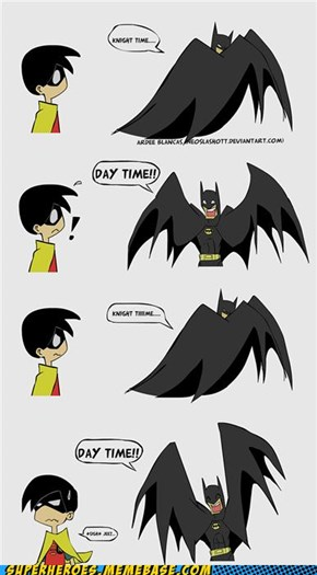 Batman having fun