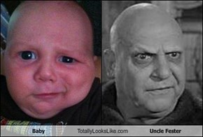 Baby Totally Looks Like Uncle Fester