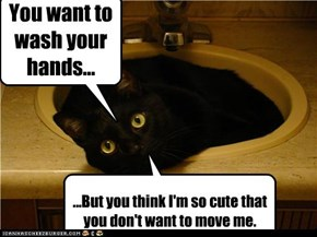 You want to wash your hands...