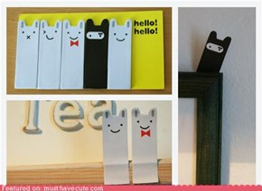 Bunny Face Page Markers