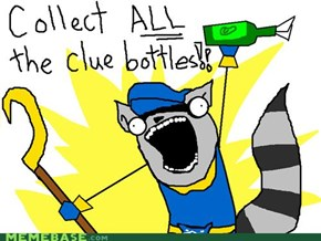 Collect ALL the clue bottles!