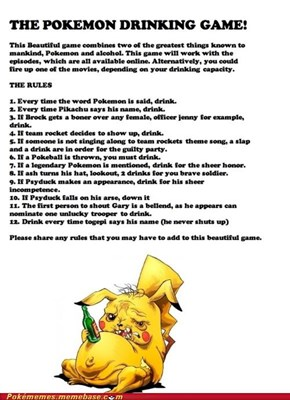 The Pokémon Drinking Game