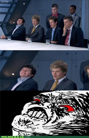 The Apprentice losing reaction