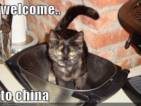 welcome..  to china
