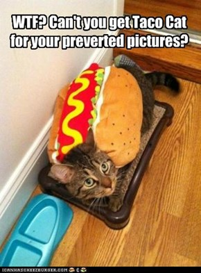 WTF? Can't you get Taco Cat for your preverted pictures?