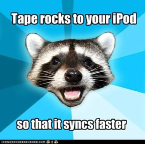 Tape rocks to your iPod
