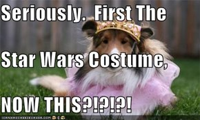 Seriously.  First The  Star Wars Costume, NOW THIS?!?!?!