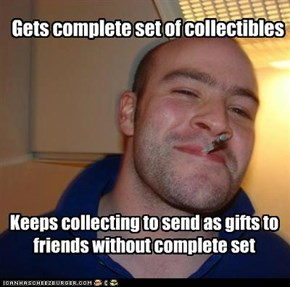 Gets complete set of collectibles