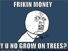 FRIKIN MONEY  Y U NO GROW ON TREES?