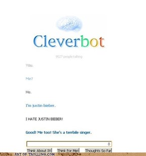 Look, Cleverbot Speaks Internet
