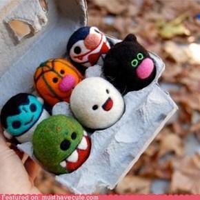 Felted Halloween Eggs