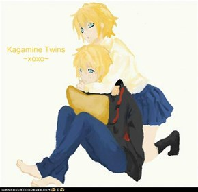 My drawing of the Kagamine Twins