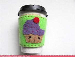 Zombie Cupcake Coffee Sleeve