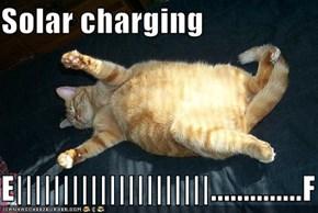 Solar charging  E|||||||||||||||||||||..............F