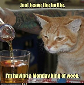 Just leave the bottle.