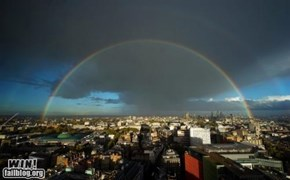 Mother Nature FTW: Double Rainbow in London