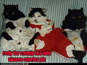 redy for catnip tea adn skaree storiez plz
