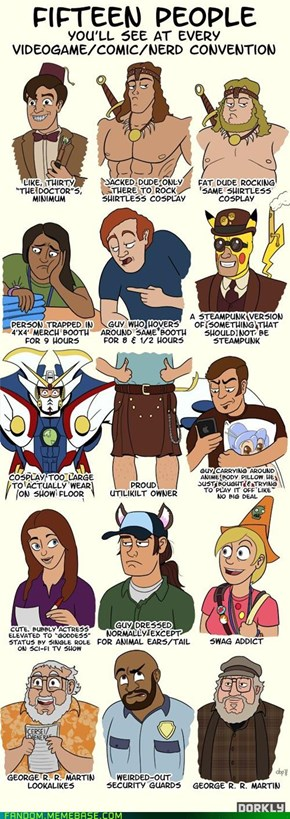 15 People You'll See At Every Con