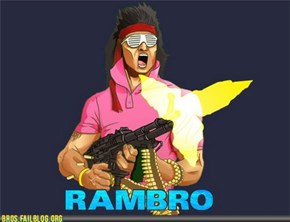 Rambo wears a shirt now