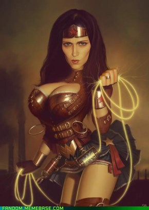 Busty Steampunk Wonder Woman