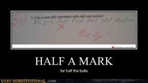 HALF A MARK