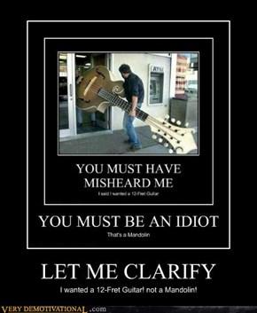 LET ME CLARIFY