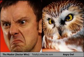 The Master (Doctor Who) Totally Looks Like Angry Owl