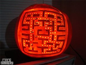Pac Man carving pumpkin!