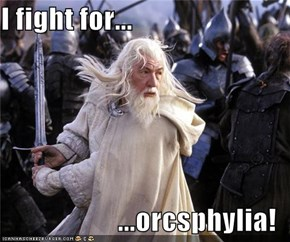 I fight for...  ...orcsphylia!