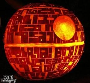 Pumpkin deathstar...