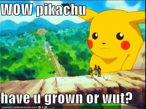 WOW pikachu  have u grown or wut?