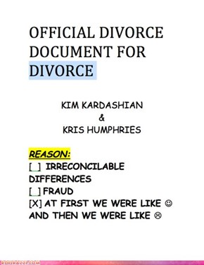 Official Kim & Kris Divorce Documents: LOL