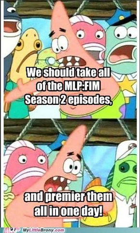Patrick Wants A Marathon