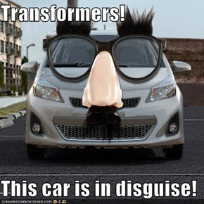 Transformers!  This car is in disguise!