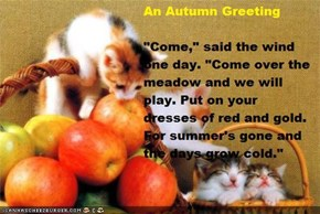 An Autumn Greeting~Author Unknown