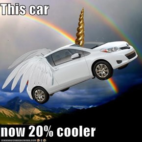 This car  now 20% cooler
