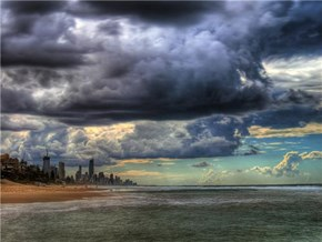 Storm Clouds over Gold Coast, Queensland, Australia