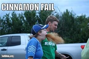 Cinnamon Challenge FAIL