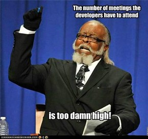 The number of meetings